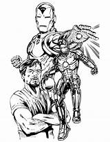 Iron Coloring Tony Stark Printable Drawing Drawings Invincible Draw Cool Adults Clipart Pdf Ww1 Sketch Ironman Marvel Cxxii Commissionando Layton sketch template