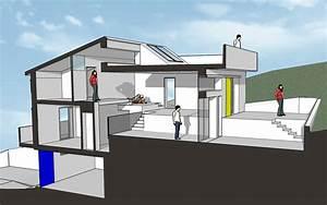 simple maison terrain pente design tourcoing ikea With plan maison demi niveau 14 vente de plan de maison avec terrain en pente
