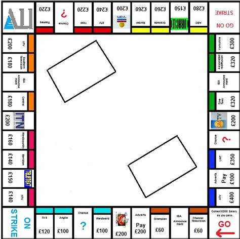 monopoly board template monopoly clipart 2002936