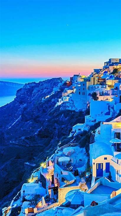 Wallpapers Honor Pro Huawei Greece Santorini Themes