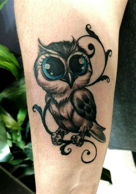 baby owl tattoo designs ideas  meanings