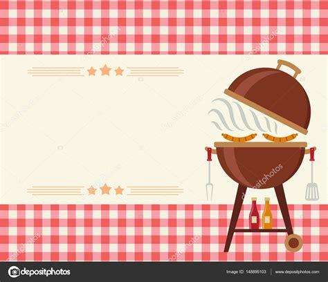 convite  festa de churrasco em branco vetores de