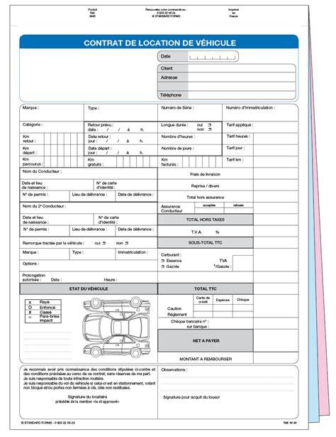 modele contrat de location voiture contrat de location non personnalis 233 m40spz