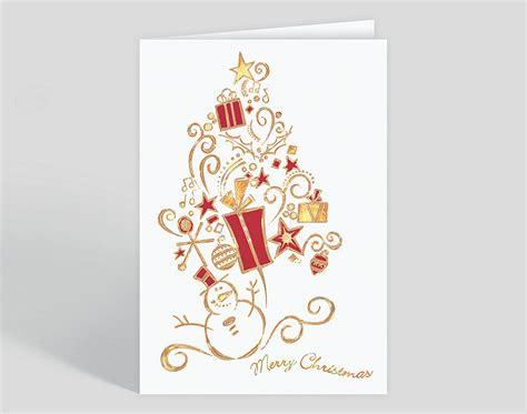 Snowman Surprise Christmas Card 300364 Business