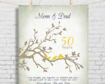 50th wedding anniversary ideas for parents popular items for 50th wedding anniversary on etsy