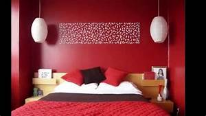 Decoration chambre en rouge youtube for Idee deco gris et blanc