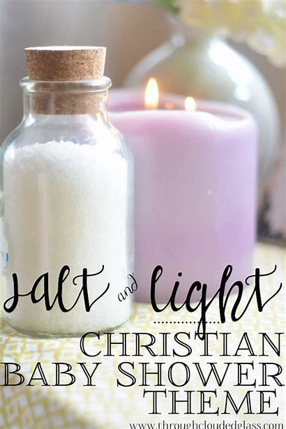 Christian Shower Theme Salt Idea Glass Verse