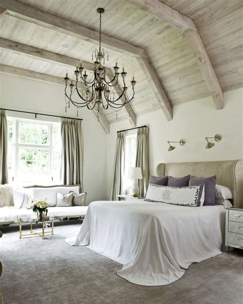 Decorating Ideas For Large Bedroom Wall by Chandelier High Wood Ceiling