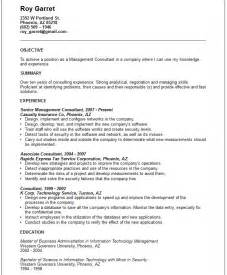 resume for management consulting management consultant resume exle free templates collection