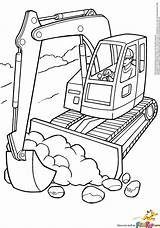 Excavator Coloring Pages Print Boys sketch template