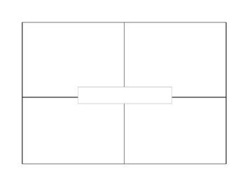 four square writing template blank 4 square writing by resources by rindels tpt