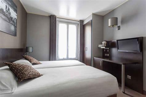 chambre single habitación individual con 2 camas hotel jardin de villiers