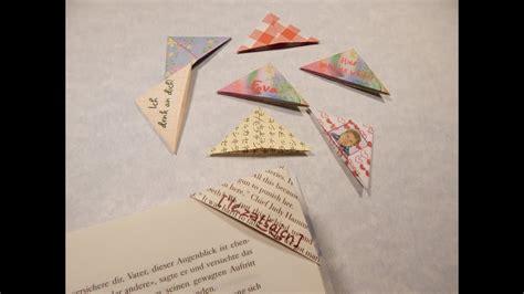 origami lesezeichen einfach selber falten youtube
