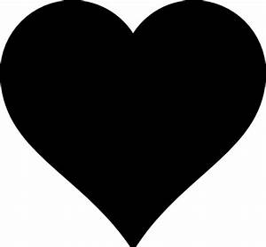 Black Heart Clip Art at Clker.com - vector clip art online ...
