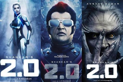 Rajinikanth, Akshay Kumar, Amy Jackson In Their 2.0 Avatar