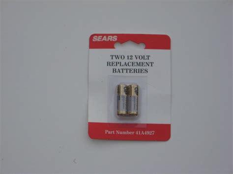 garage door opener battery garage door opener batteries from sears