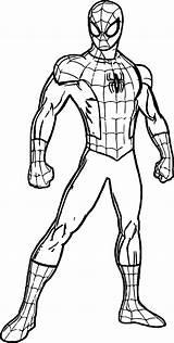 Spider Coloring Length Marvel Spiderman из раскраски все категории Heroes Rost sketch template