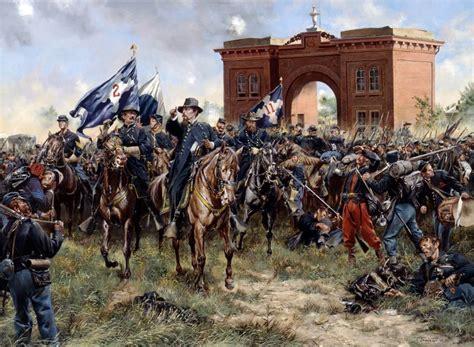 Gettysburg Cemetery Hill Civil War Confederate Art