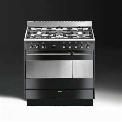 smeg concert suk92mbl9 dual fuel 90cm range cooker gloss