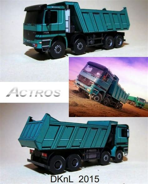 mercedes benz actros   truck  vehicle paper
