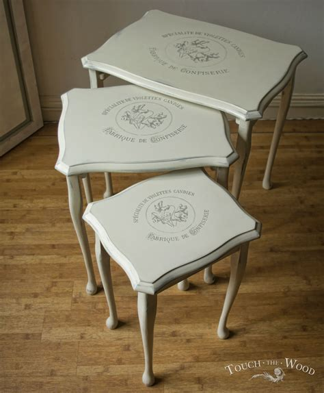 how to paint shabby chic table vintage shabby chic nest of tables no 13 touch the wood