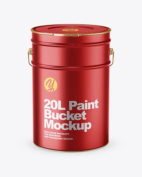 We encourage you to create a free account and login. Download Psd Mockup 20L Aluminium Bucket Front View Hanger ...