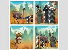 Comic Strauss und Schlagbaum