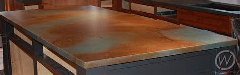 How To Acid Stain Concrete Countertops - stained concrete countertops customcretewerks inc