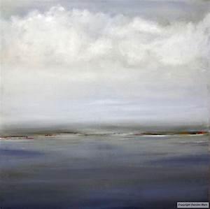 tableau peinture contemporaine paysage abstrait 80x80 With couleur gris bleu peinture 4 tableau peinture contemporaine paysage minimaliste