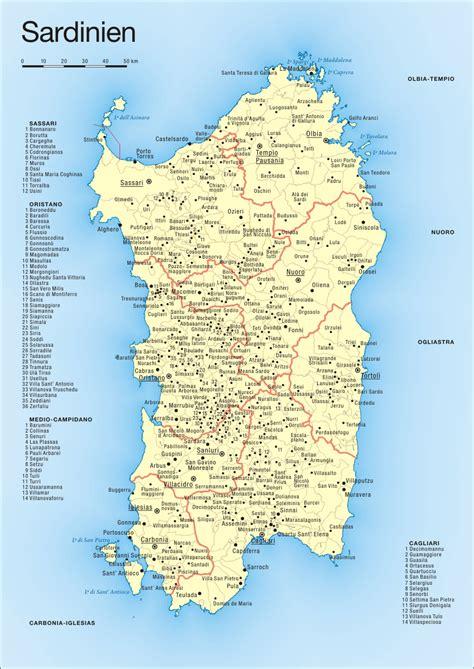 map  sardinia political map worldofmapsnet