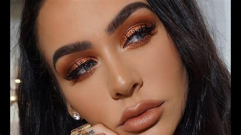 metallic copper spring makeup tutorial youtube