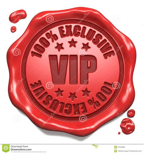 VIP Exclusive - Stamp On Red Wax Seal. Royalty Free Stock ...