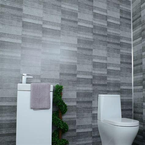 grey bathroom cladding tile effect mm pvc wall panels