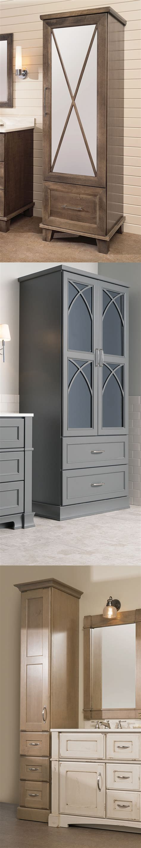 Linen Armoire Storage by Bathroom Furniture Makes Linen Storage Stylish