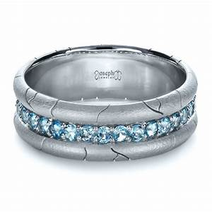 men39s custom ring with aquamarine 1203 With mens aquamarine wedding ring