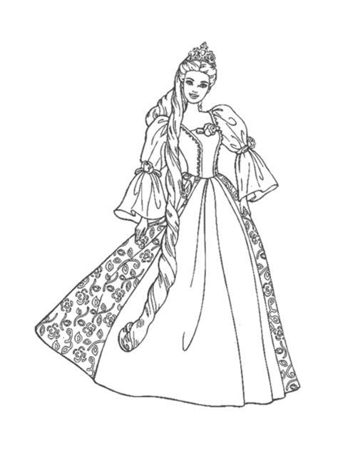 barbie princess coloring pages  images  clkercom