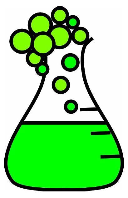 Clip Tube Flask Test Clipart Bubbling Cartoon