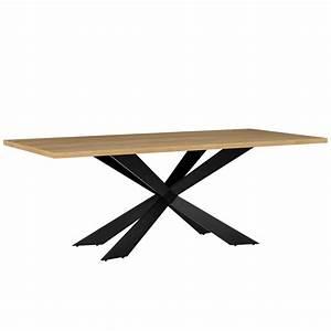 Table moderne 200 x 100 cm en fer et bois pour Tables a 508,23