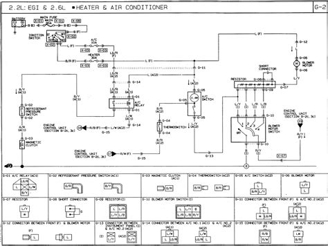 92 Mustang Heater Blower Wire Diagram by 1991 Mazda B2600i Wiring Diagram Ac Heat Air
