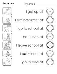 resultado de imagen de daily routine worksheet english