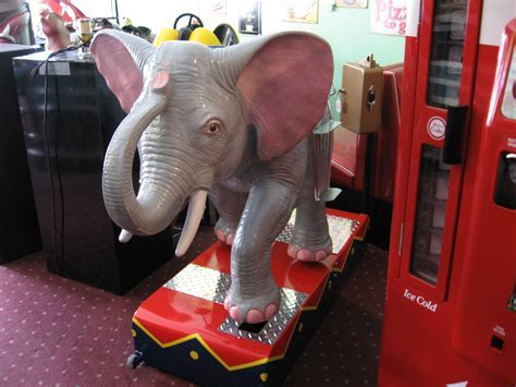 Elephant Kiddie Ride: Coin Operated, Restored, Original