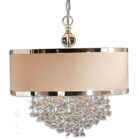 chandelier with drum shade and crystals home design ideas