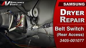 Samsung Dv422ewhdwr Dryer  U2013 Will Not Tumble  U2013 Belt Switch