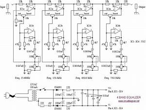 4 Band Equalizer Schematic Diagram