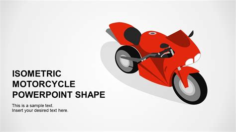 Isometric Motorcycles Powerpoint Shapes