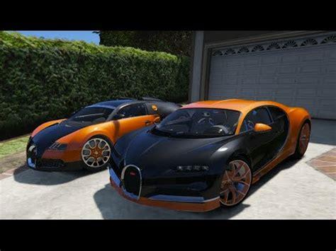 Bugatti Veyron And Chiron by Gta V Bugatti Chiron Vs Bugatti Veyron Gta 5 Mod