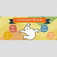 Commonly Confused Words And Used Mistakesinfographic