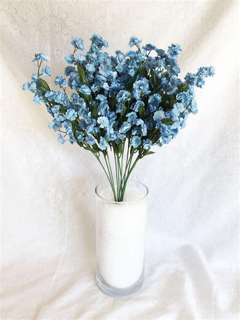 babys breath light blue gypsophila silk wedding