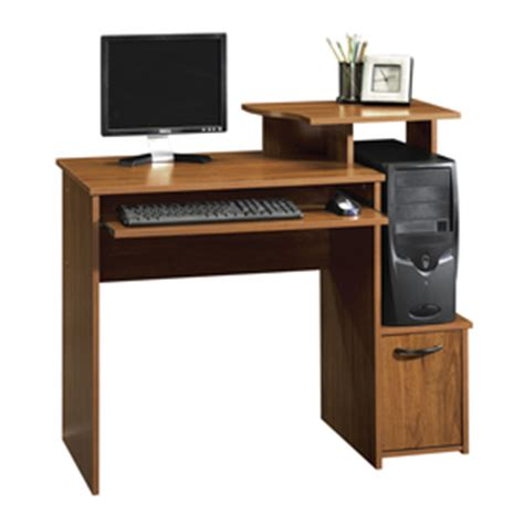 shop sauder beginnings pecan computer desk at lowes com