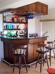 mini bar for home with hanging wine glass rack and open With mini bar design for home